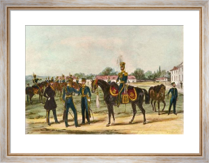 Light Dragoons - 14th (Restrike Etching) by Henry Martens