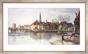 St. Ives (Huntingdon) (Restrike Etching) by Charles Edward Holloway