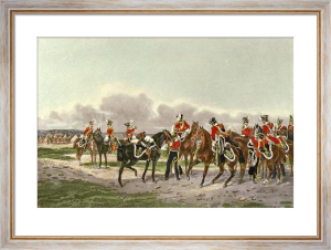 Light Dragoons - 13th (Restrike Etching) by Orlando Norie