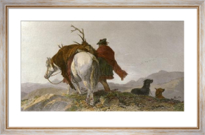 Returning Home (Restrike Etching) by Richard Ansdell
