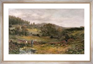 Rabbit Shooting (Restrike Etching) by Douglas Adams