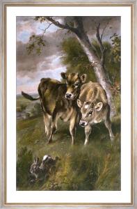 Startled (Calves) (Restrike Etching) by Walter Hunt