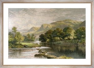 In a Welsh Valley (Restrike Etching) by Benjamin Williams Leader