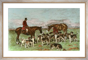 Horseman & Hounds (Restrike Etching) by John Emms