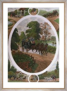 Coaching Compo (Restrike Etching) by William Henry Tuck