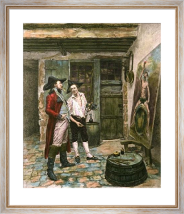 Sign Painter (Restrike Etching) by Jean-Louis Ernest Meissonier
