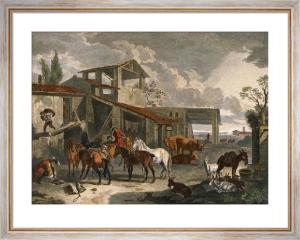 Inn Yard (Restrike Etching) by Peter de Layer