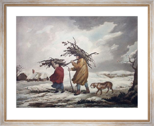Cottagers in Winter (Restrike Etching) by George Morland