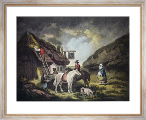 The Thatcher (Restrike Etching) by George Morland