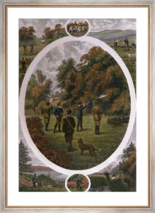 Shooting Compo (Restrike Etching) by William Henry Tuck