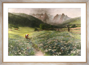 June in the Austrian Tyrol (Restrike Etching) by John MacWhirter