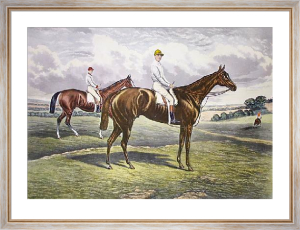 Sir Gatien & Harvester (Derby) (Restrike Etching) by R. Powell