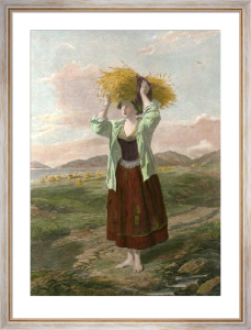Ruth In The Fields Of Boaz (Restrike Etching) by William Powell Frith