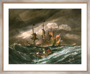 Taking Out Cables & Anchors (Restrike Etching) by Joseph Mallord William Turner