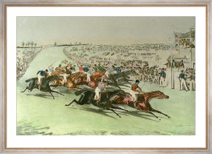 Derby: Finish (Restrike Etching) by Francis Calcraft Turner