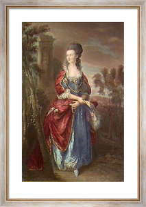 Hon. Frances Duncombe (Restrike Etching) by Thomas Gainsborough