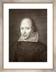 William Shakespeare (Restrike Etching) by Anonymous