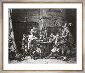 The Gamblers (Restrike Etching) by Jean-Louis Ernest Meissonier