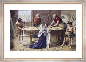 The Carpenters Shop (Restrike Etching) by Sir John Everett Millais