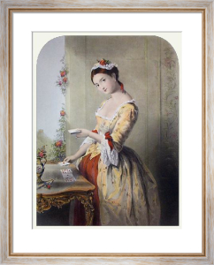 Fair Fortune Teller (Restrike Etching) by A. Bouvier
