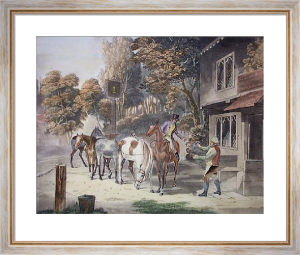 Horses Going To Fair (Restrike Etching) by Samuel J. E. Jones