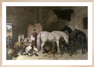 English Homestead (Glimpse of) (Restrike Etching) by John Frederick Herring