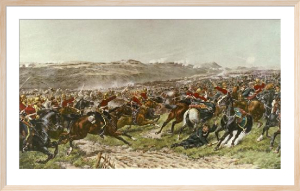 Charge of the Heavy Brigade (Restrike Etching) by G.D. Giles