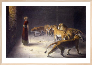 Daniels answer to the King (Restrike Etching) by Briton Riviere