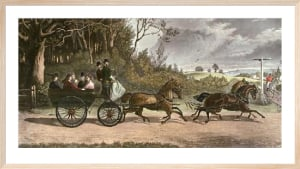 The Wagonette (Restrike Etching) by Samuel Williams