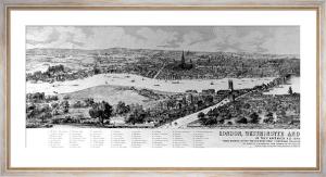Westminster (Panoramic View) (Restrike Etching) by Antony Van De Wyngrer