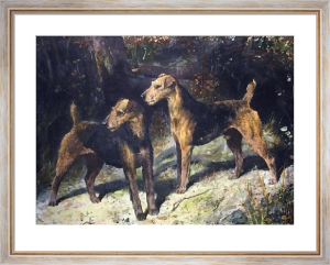 Airedales of the 20th Century (Restrike Etching) by Arthur Wardle