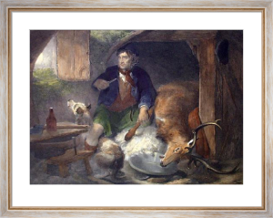 Poachers Bothy (Restrike Etching) by Sir Edwin Henry Landseer