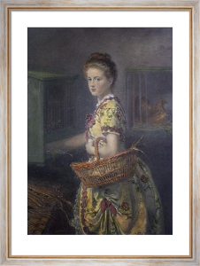 New Laid Eggs (Restrike Etching) by Sir John Everett Millais