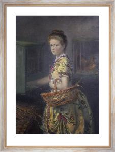 New Laid Eggs (Restrike Etching) by Sir John Everett Millais