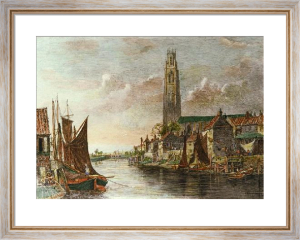 Boston Stump (Restrike Etching) by Charles Edward Holloway