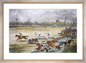 Scarborough Steeplechase (Restrike Etching) by J. S. Harland