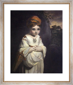 Strawberry Girl (Restrike Etching) by Sir Joshua Reynolds