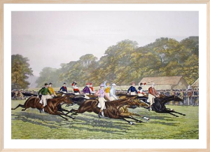 Our Gentlemen Riders (Restrike Etching) by George Veal