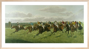 First Past The Post (Restrike Etching) by Harrington Bird