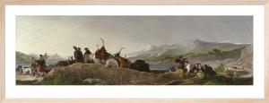 Chiefs Return From Deer Stalking (Restrike Etching) by Sir Edwin Henry Landseer