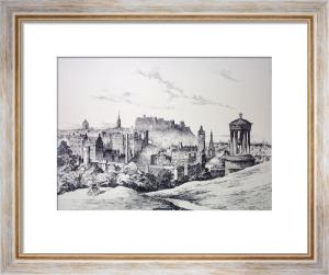 Edinburgh Castle (Restrike Etching) by Anonymous