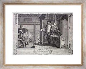 Industry, Idleness Plt4 (Restrike Etching) by William Hogarth