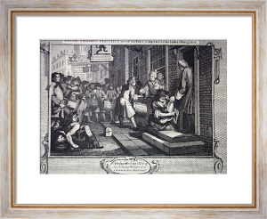 Industry, Idleness Plt6 (Restrike Etching) by William Hogarth