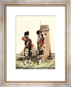 Highlanders 42nd - Sentry Box (Restrike Etching) by Orlando Norie