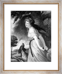 Lady Hamilton as Bacchante (Restrike Etching) by George Romney