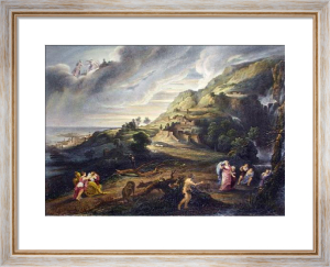Ulysses Approaches the Island of the Phoecians (Restrike Etching) by Peter Paul Rubens