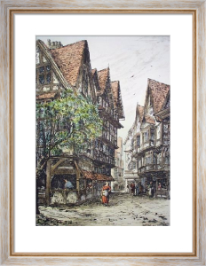 Pye Corner, Hosier Lane (Restrike Etching) by Frank J. Short