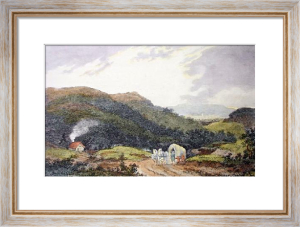 May Hill on the Road to Ross (Restrike Etching) by John Burden