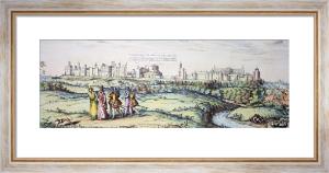 Windsor Castle(Reign of Elizabeth I.) (Restrike Etching) by Georgius Hoefnagler