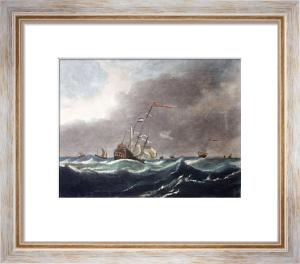 Gale A (Restrike Etching) by Willem Van de Velde